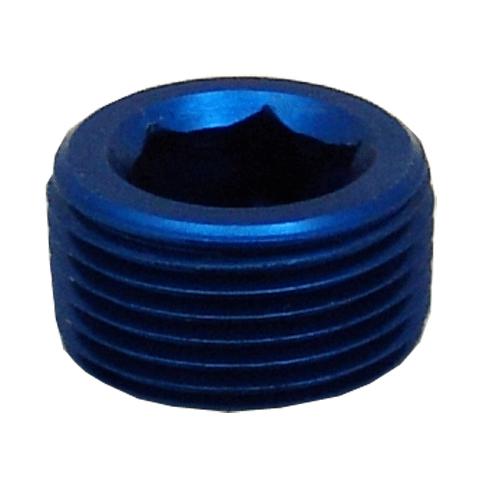 ALLEN SOCKET PIPE THREAD PLUGS 1 NPT BLUE