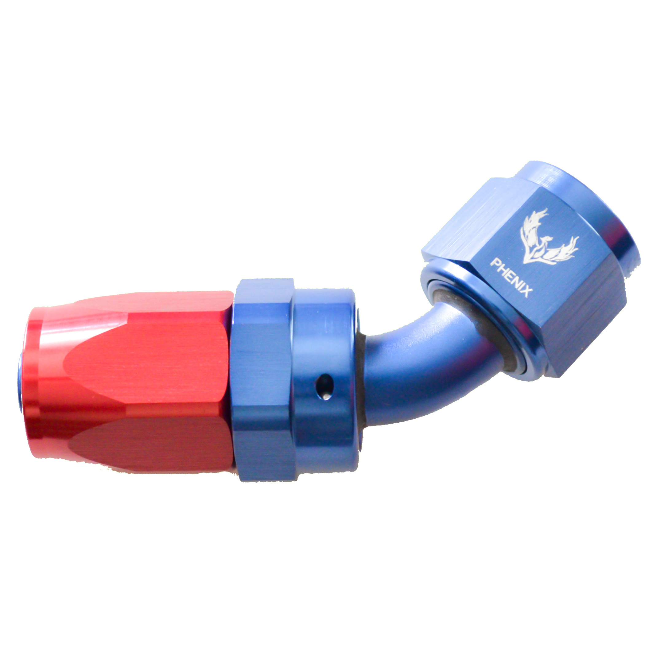 -4 45 DEGREE SWIVEL HOSE END BLU