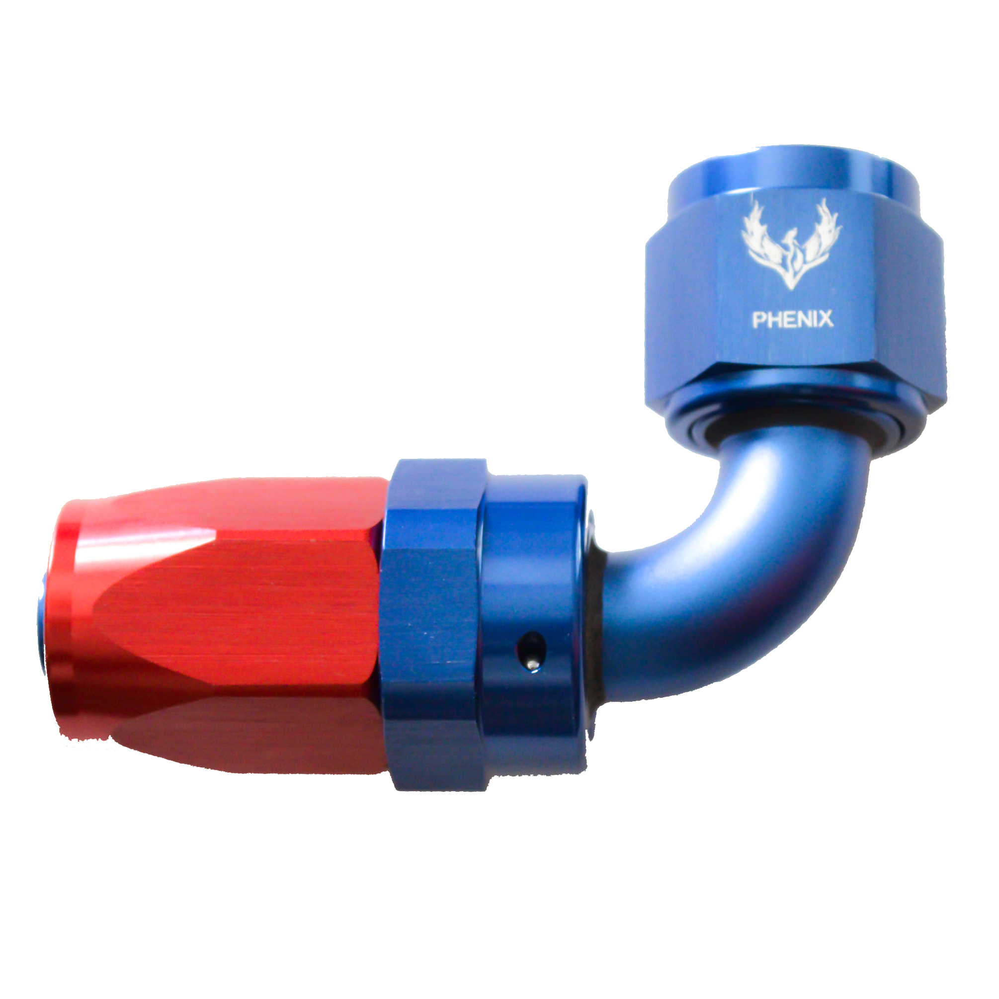 -4 90 DEGREE SWIVEL HOSE END BLU